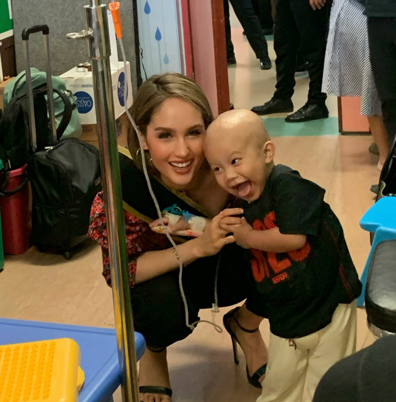 A fun day with the kids of Dharmais Cancer Hospital.